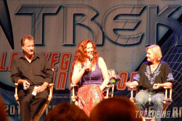 John de Lancie, Suzie Plakston and Denise Crosby