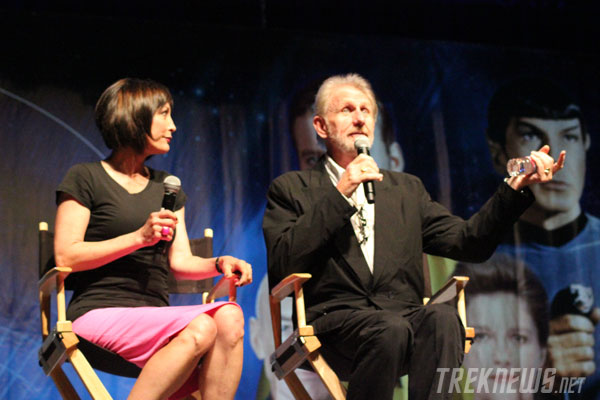 Nana Visitor and Rene Auberjonis