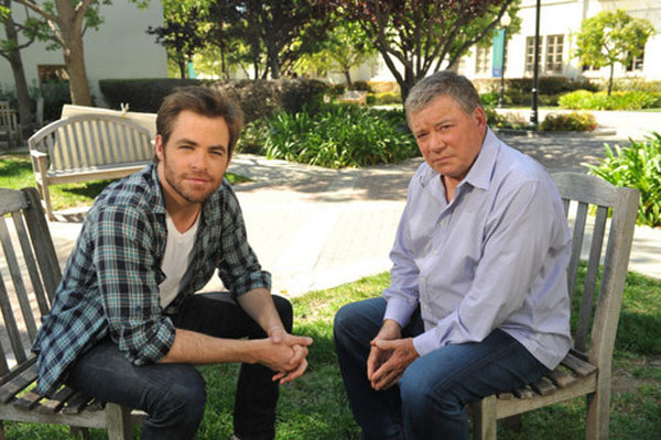 Chris Pine and William Shatner