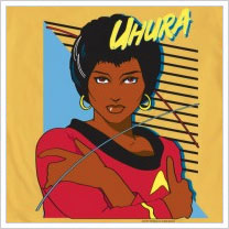 Uhura shirt from Mighty Fine