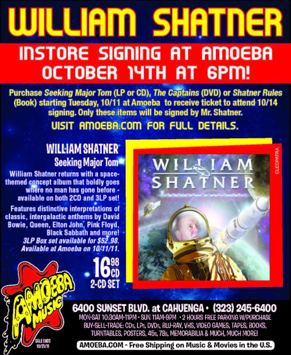 William Shatner at Amoeba Records