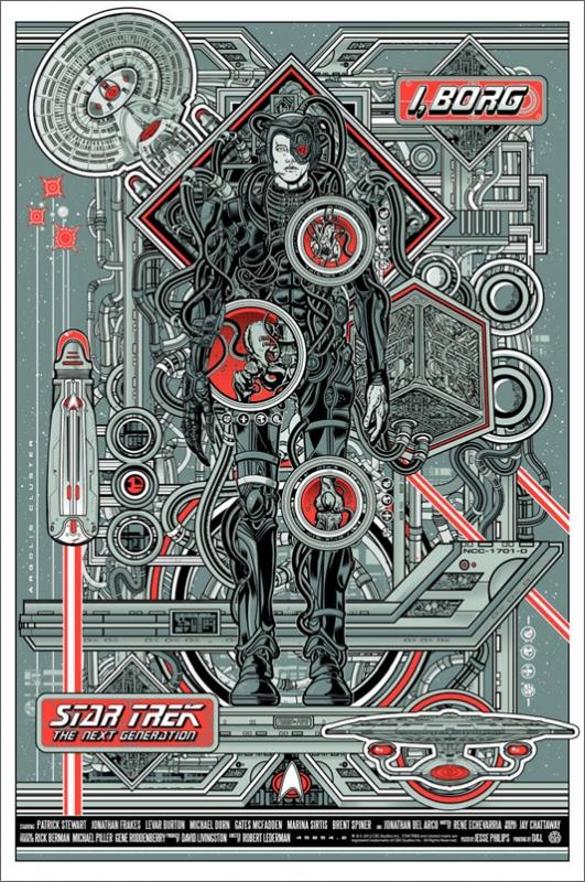 I, Borg Metallic Poster