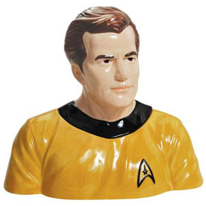 Captain Kirk Cookie Jar