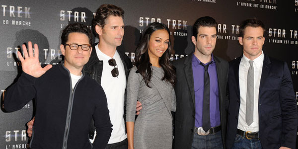JJ Abrams &amp; the cast of Star Trek (2009)