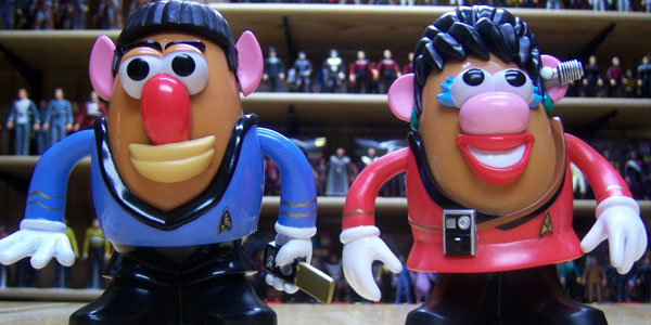 Spock & Uhura Mr. Potato Head Figures