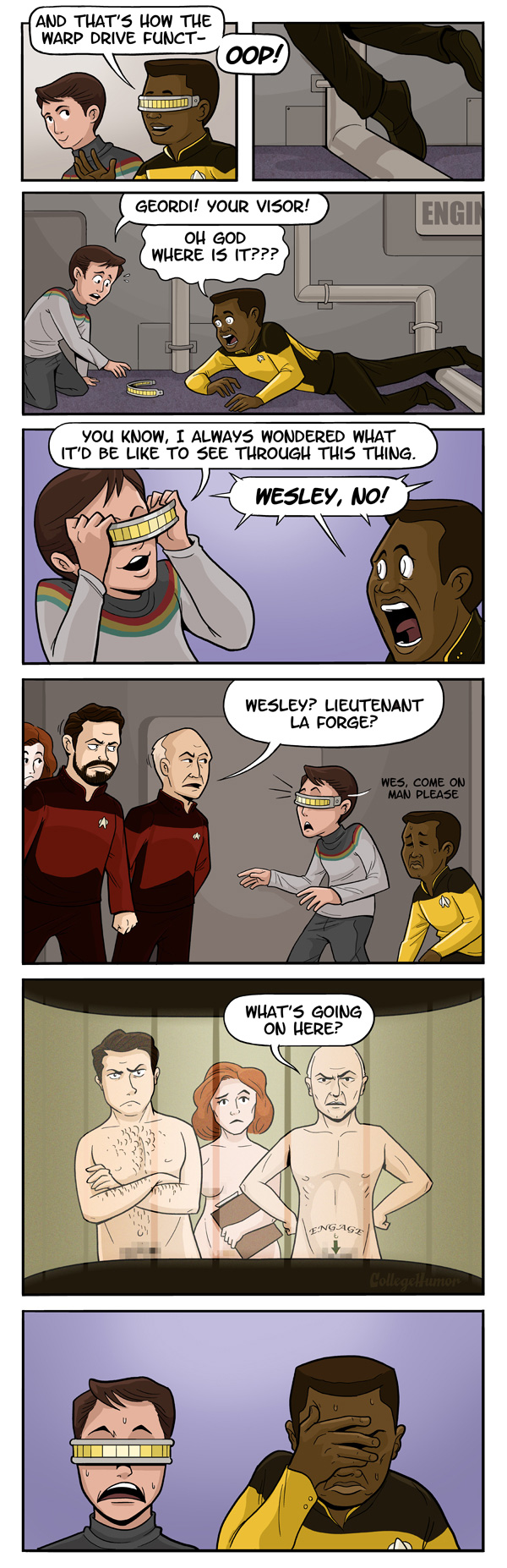 Star Trek Geordi LaForge webcomic
