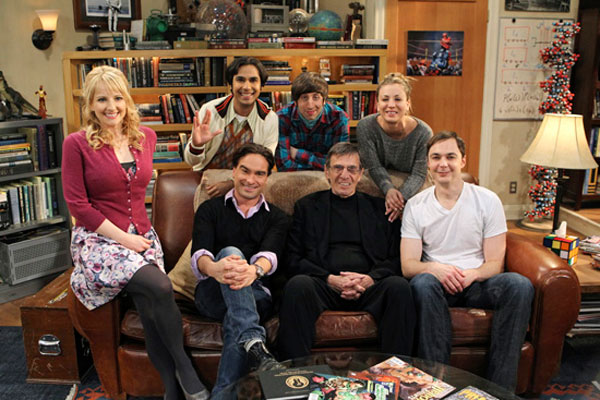 Nimoy with the cast of The Big Bang Theory