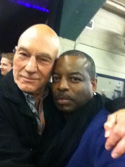 Patrick Stewart and LeVar Burton at the Calgary Expo