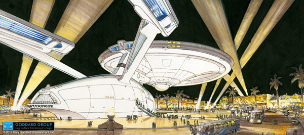 Star Trek Enterprise in Las Vegas Concept