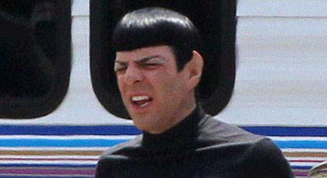 Even More Leaked Photos of Zachary Quinto from the Star Trek Sequel Set