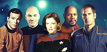 All Five Star Trek Captains