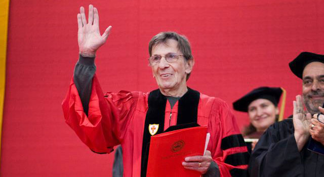 Leonard Nimoy at Boston University Convocation