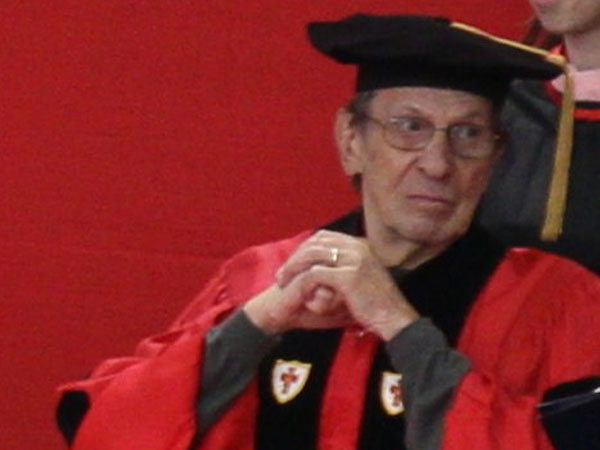 Leonard Nimoy at Boston University's 2012 Convocation Ceremony