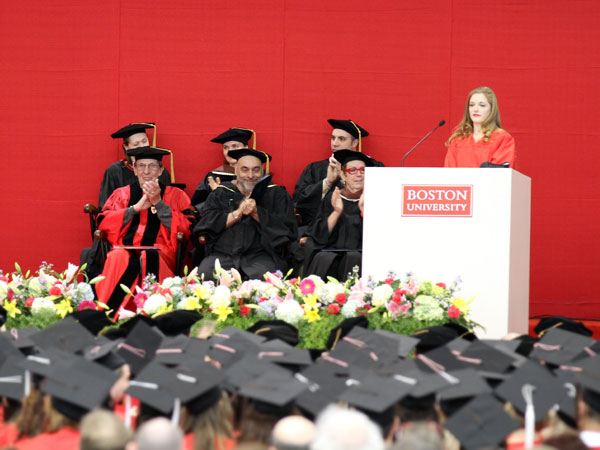 Leonard Nimoy at Boston University&#039;s 2012 Convocation Ceremony