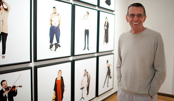 "Nimoy with his ""Secret Selves"" exhibit in 2010"