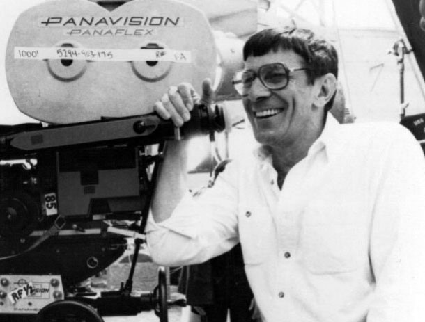 Leonard Nimoy directing Star Trek IV: The Voyage Home in 1985