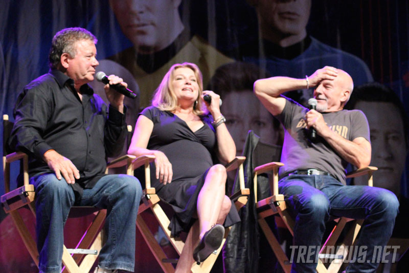William Shatner, Kate Mulgrew and Patrick Stewart