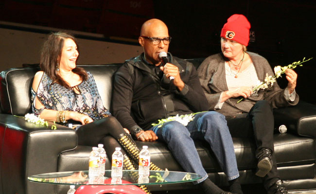 Marina Sirtis, Michael Dorn and Denise Crosby