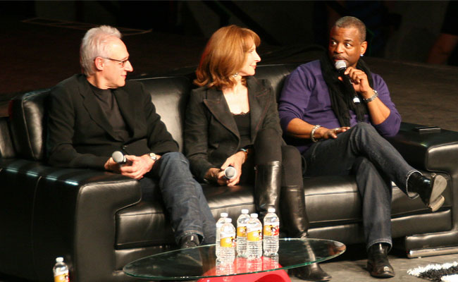 Brent Spiner, Gates McFadden and LeVar Burton