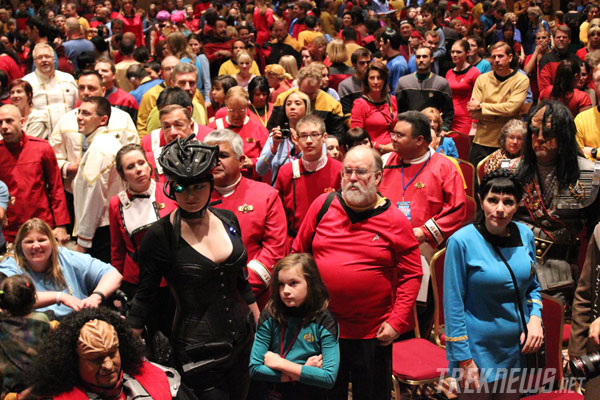 Costumed fans at the 2011 Star Trek Convention in Las Vegas
