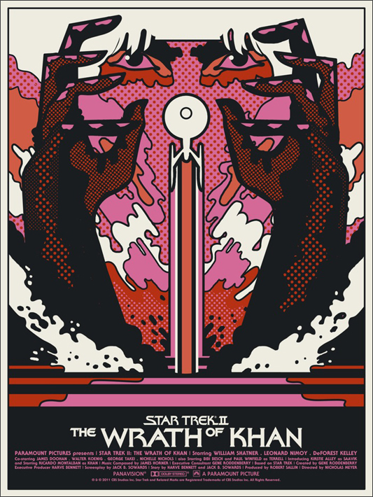 new quotwrath of khanquot poster on sale this friday treknewsnet
