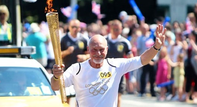 WATCH: Patrick Stewart Carries the Olympic Torch