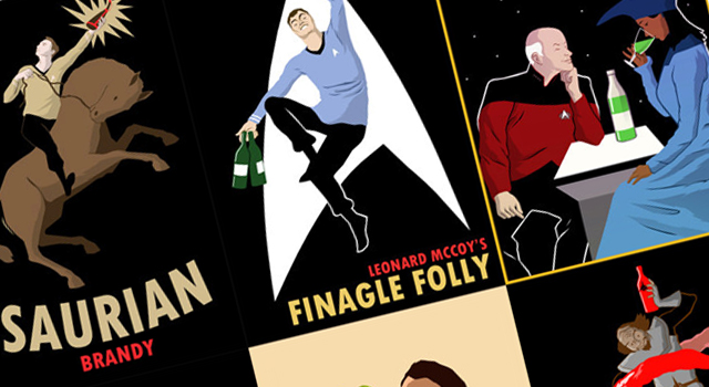 Retro Star Trek Liquor Posters on Etsy