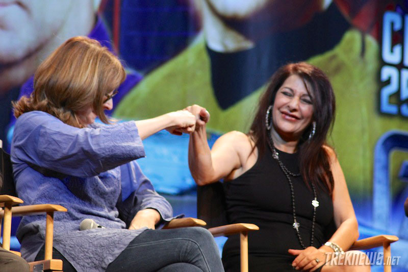 Gates McFadden and Marina Sirtis