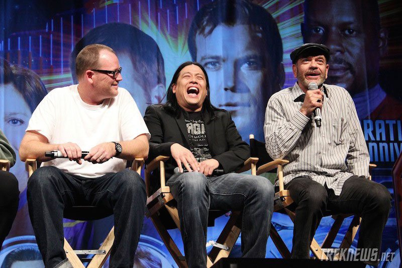 Robert Duncan McNeill, Garrett Wang and Robert Picardo