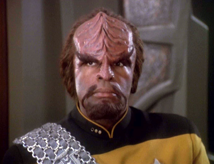 Dorn as Worf in the DS9 episode &quot;Way of the Warrior&quot;