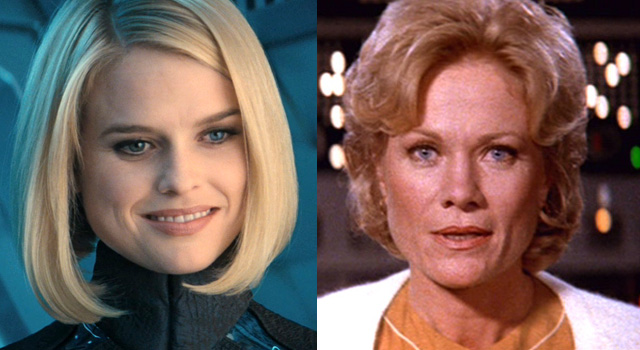Alice Eve and Bibi Besch side-by-side comparison