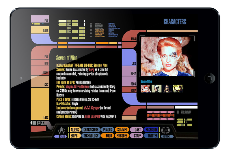 Updated version of Star Trek PADD app for iPad