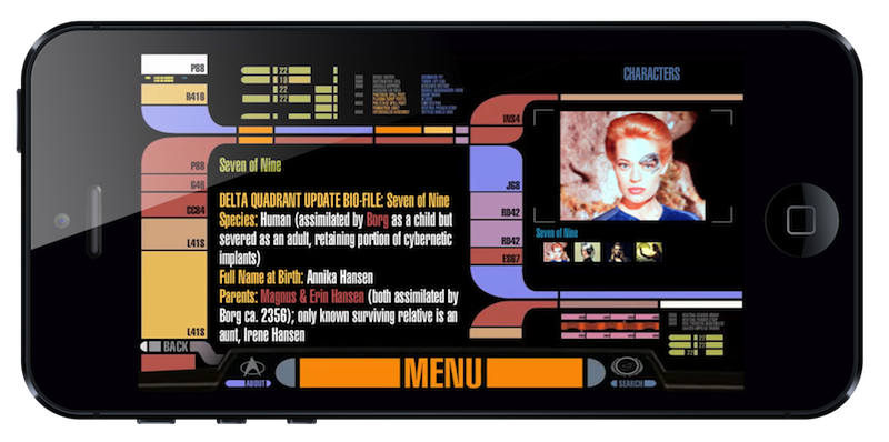 Star Trek PADD app on iPhone 5