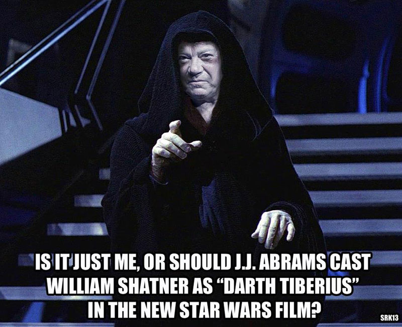 William Shatner as Darth Tiberius