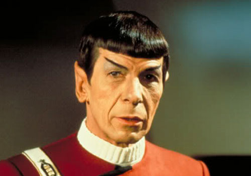 "Nimoy as Spock from ""The Wrath of Khan"""