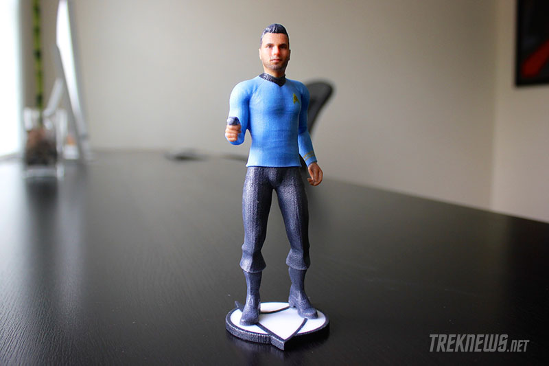 Custom 3D printed Star Trek figures from Cubify