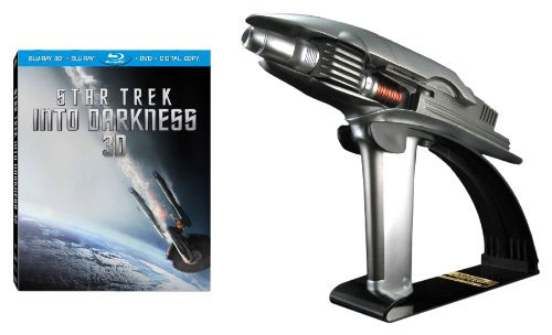 Star Trek Into Darkness on Blu-ray 3D and Starfleet phaser from Amazon