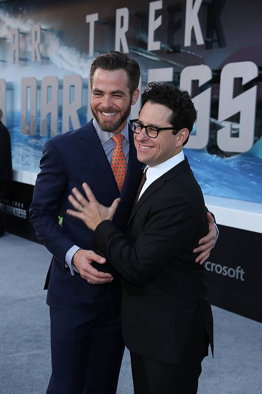 Chris Pine and J.J. Abrams