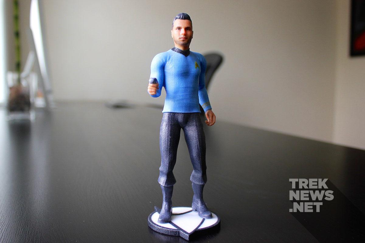 Custom 3D printed Star Trek figures from Cubify