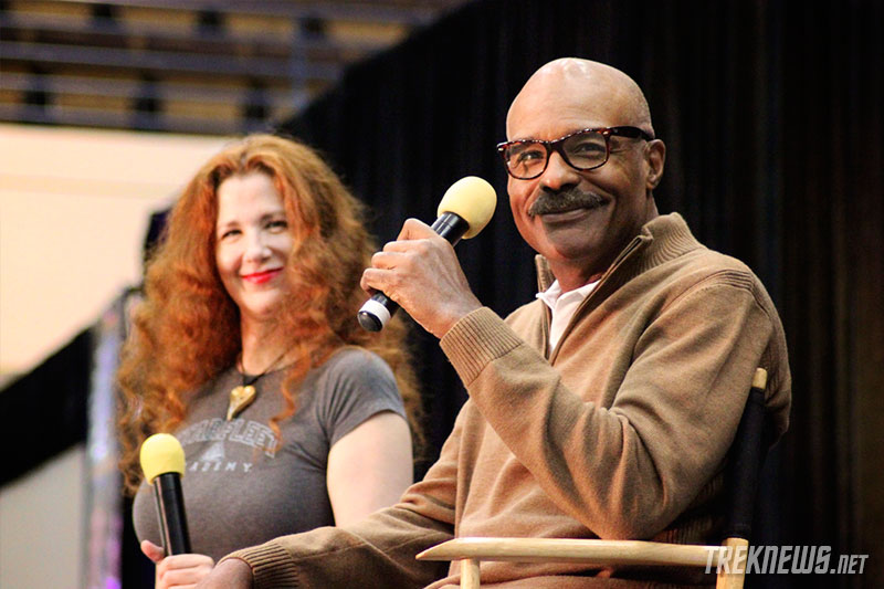 Suzie Plakston and Michael Dorn