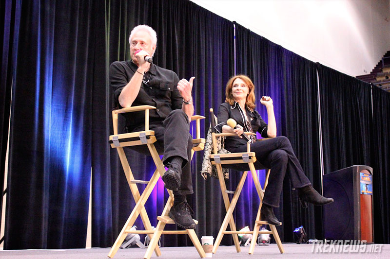 Brent Spiner and Gates McFadden