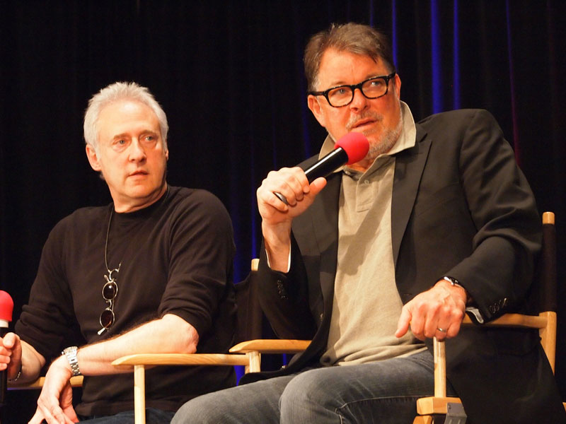 Brent Spiner and Jonathan Frakes