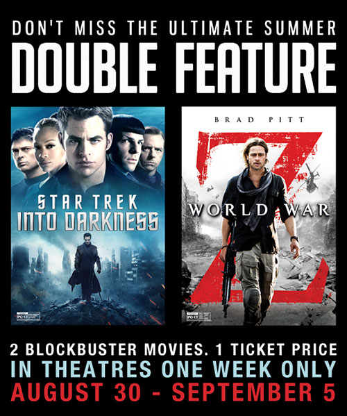 Star Trek Into Darkness & World War Z