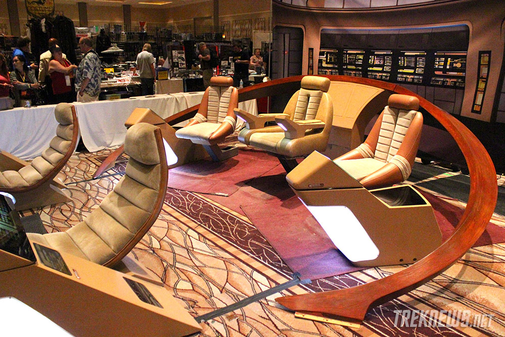 The restored Enterprise-D Bridge on display in the vendors' room