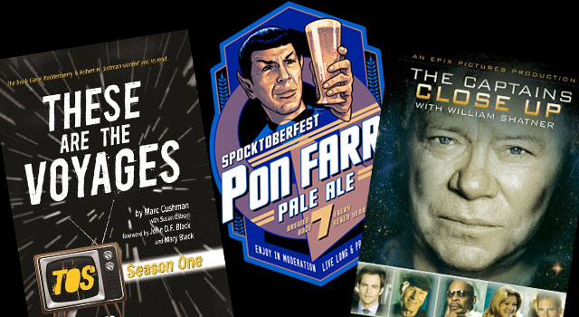 Captains Close-Up on DVD, Spocktoberfest T-Shirt, TOS Season 1 Book & More New Star Trek Merchandise Releases