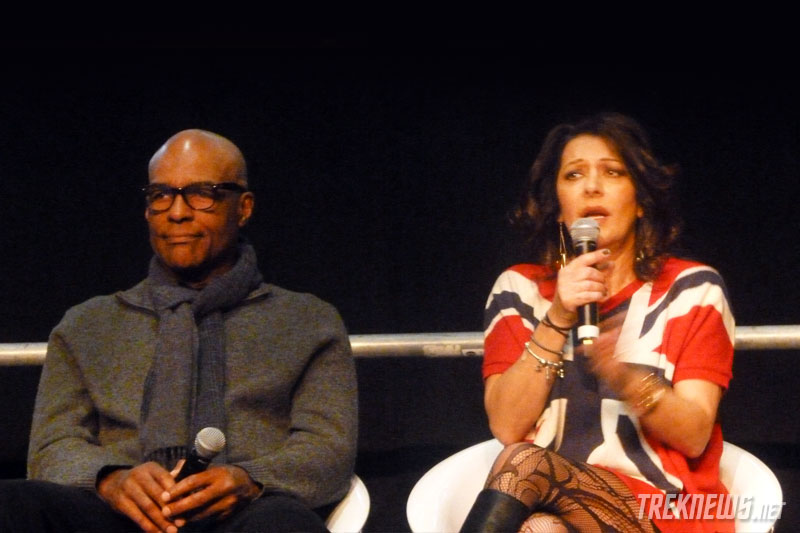 Michael Dorn and Marina Sirtis