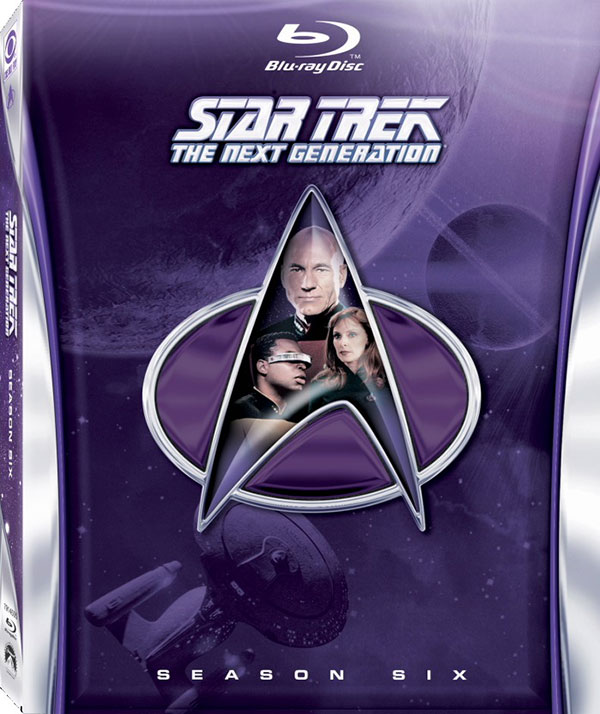Star Trek: The Next Generation - Season 6 on Blu-ray cover art