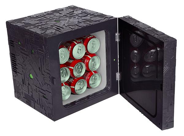 Objetos curiosos de STAR TREK Borg-cube-mini-fridge