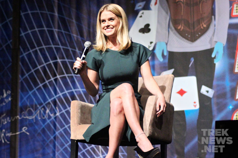 Eve on stage at the 2013 Las Vegas Star Trek convention