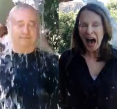 "WATCH: Brent Spiner, Gates McFadden Get Soaked In ""Ice-Bucket Challenge"""